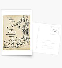 Winnie the Pooh - wie glücklich ich bin Postkarten