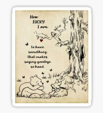 winnie the pooh - how lucky i am Sticker