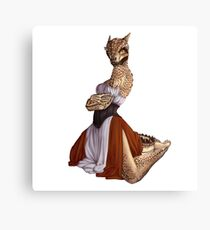 Lusty Argonian Maid Pinup 9 Canvas Print