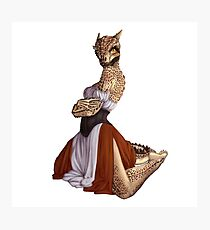 Lusty Argonian Maid Pinup 9 Photographic Print