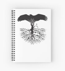 Bird of Pray: Rooted Spiral Notebook