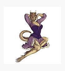 Lusty Argonian Maid Pinup 11 Photographic Print