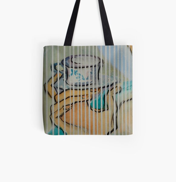 Coffe Cup All Over Print Tote Bag