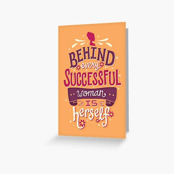 Successful woman Greeting Card