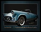 1956 Thunderbird Tribute Poster T-Bird by ChasSinklier