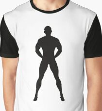 Naked and Muscular man Graphic T-Shirt