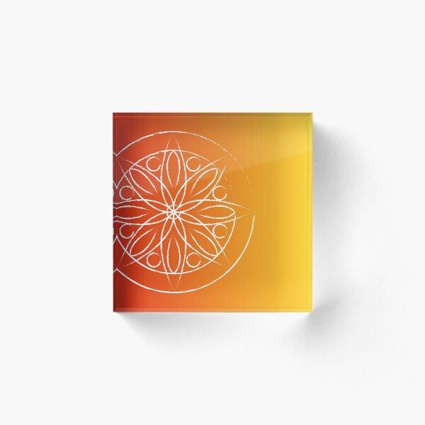 Mandala Sunset Acrylic Block