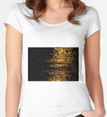 Shimmering Gold Water Women's Fitted Scoop T-Shirt