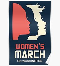 Official Women's March 2017 Tee Poster