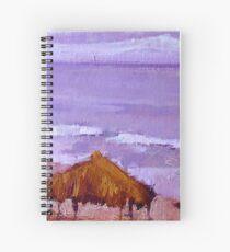 Purple Wind-n-Sea Hut Spiral Notebook