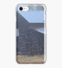 Barn in the Fog iPhone Case/Skin