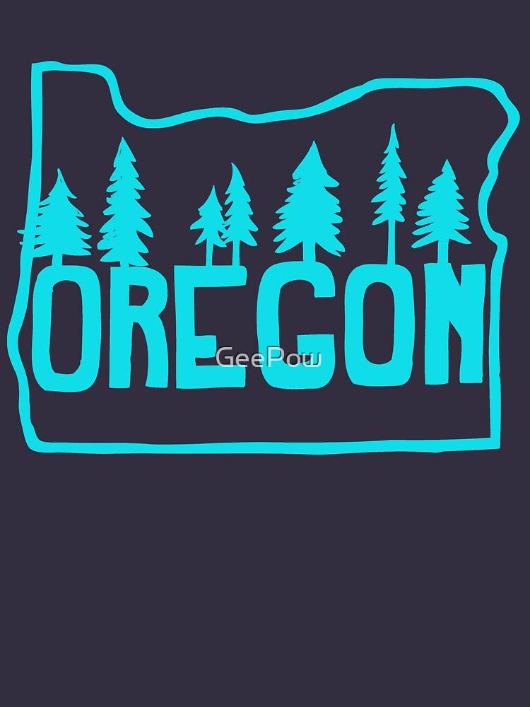 Oregon Evergreens | Teal | Unisex T-Shirt