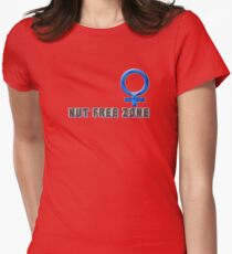 nut free Womens Fitted T-Shirt