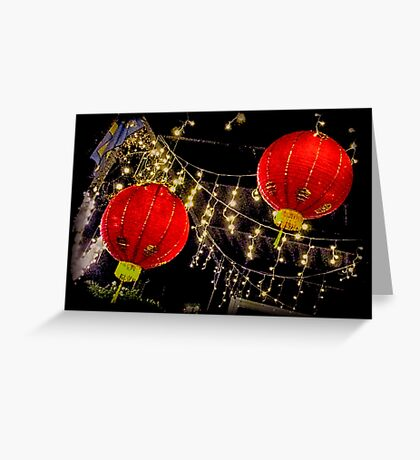 Lighting Up The New Year Greeting Card