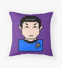 Star Strek Mr. Spock pixelated Throw Pillow