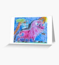Pink Unicorn Greeting Card
