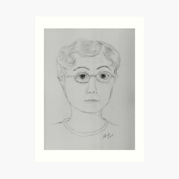 Portrait of the Artist in Her Right Mind Art Print