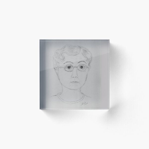 Portrait of the Artist in Her Right Mind Acrylic Block