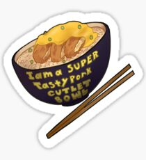yuri on ice tasty pork cutlet bowl Sticker