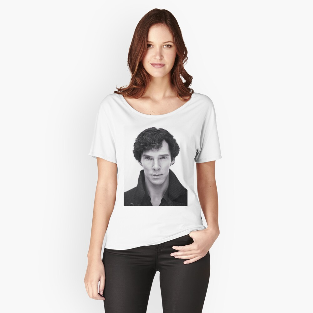 Benedict Cumberbatch In Sherlock Women's Relaxed Fit T-Shirt Front