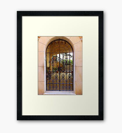 The Inner Courtyard..........................................Majorca Framed Print
