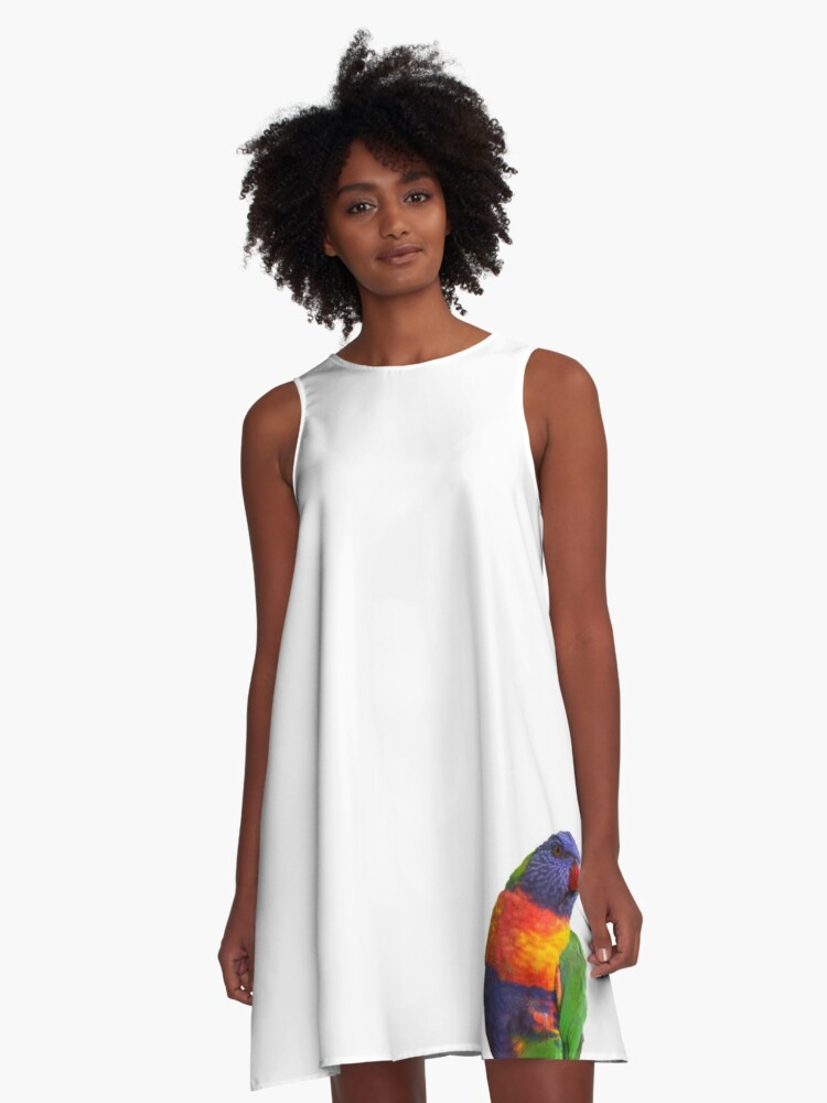 Rainbow Lorikeet A-Line Dress Front