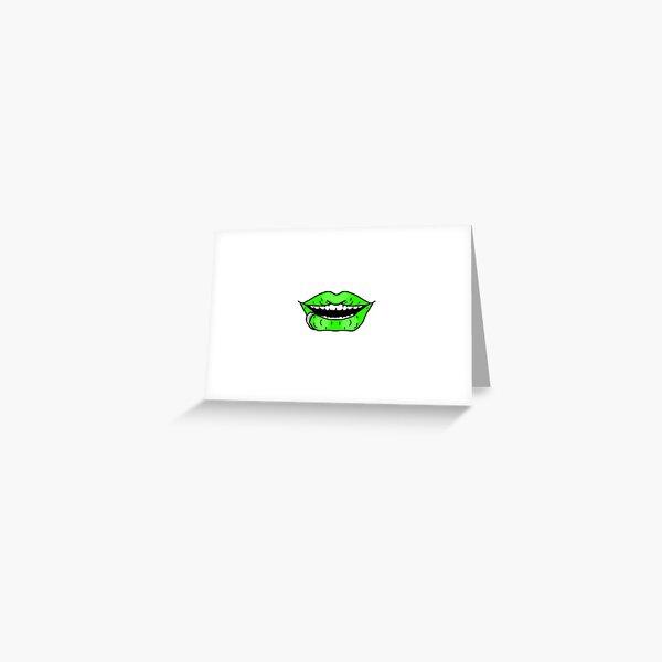 Neon Green Greeting Card