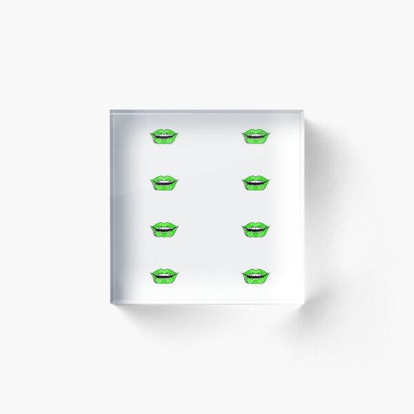 Neon Green Acrylic Block