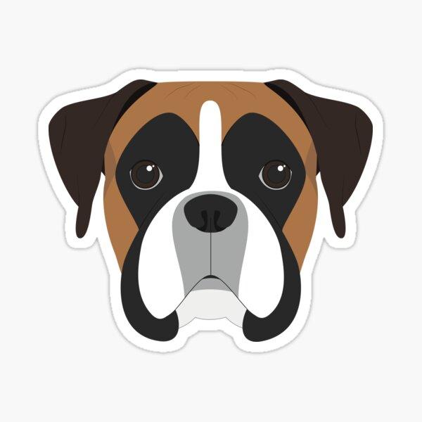 Ilustración de retrato de perro boxer Pegatina