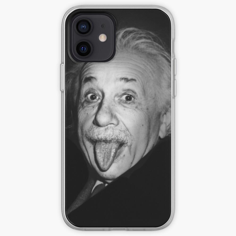 Albert Einstein Genius Tongue Funny   Coque iPhone