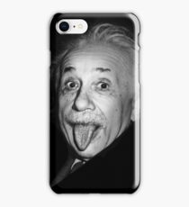 Albert Einstein Genius Tongue Funny iPhone Case/Skin