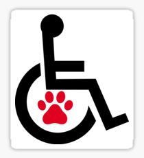 Service Dog & Disability Sticker