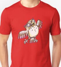 Wise Owl with Gel Pen Unisex T-Shirt