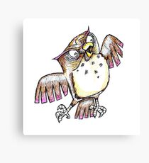Wise Owl with Gel Pen Canvas Print