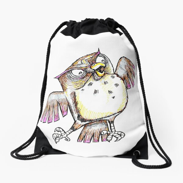 Wise Owl with Gel Pen Drawstring Bag