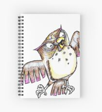Wise Owl with Gel Pen Spiral Notebook