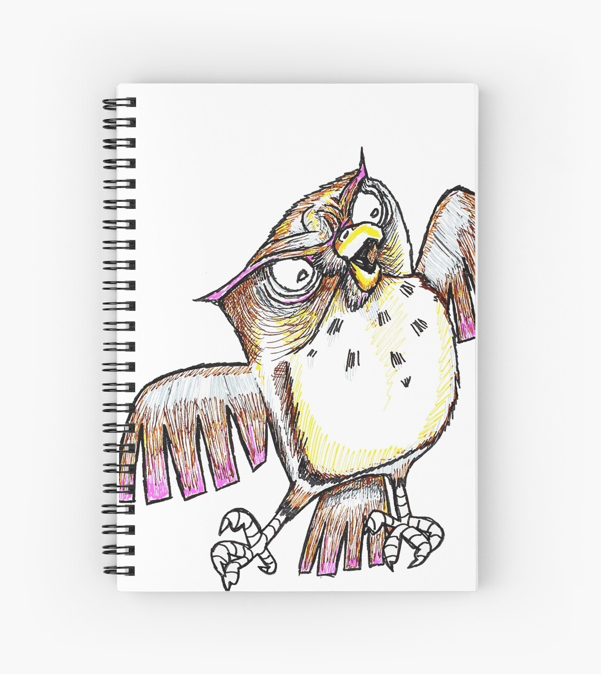 Wise Owl with Gel Pen by Chaparralia