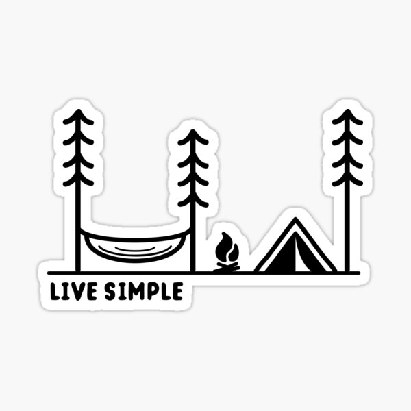 Live Simple Sticker