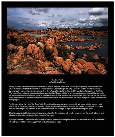 'Cochise Point- A Parable in a Picture' Photographic Print by Wayne King