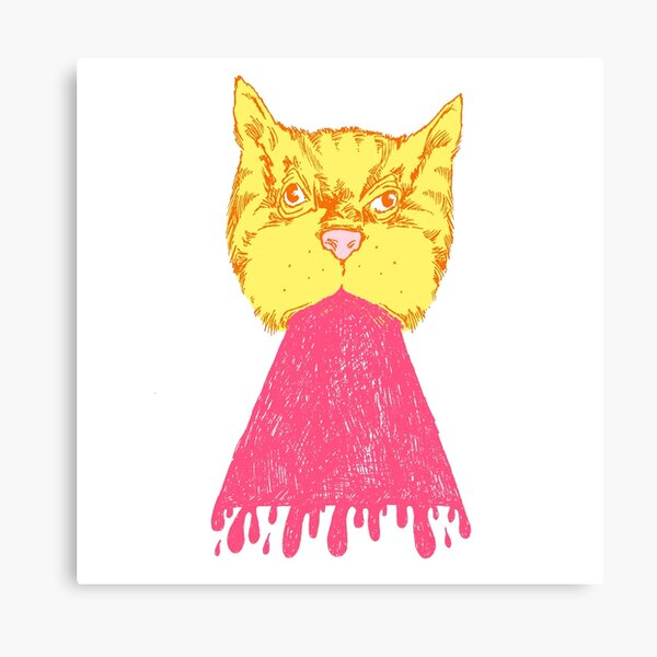 Pink Cat Vomit Canvas Print