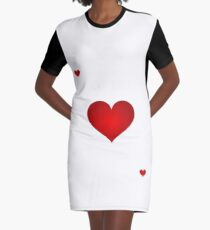 Queen of Hearts Graphic T-Shirt Dress