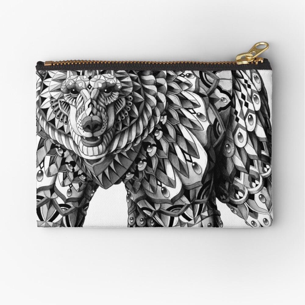 Ornate Bear Zipper Pouch