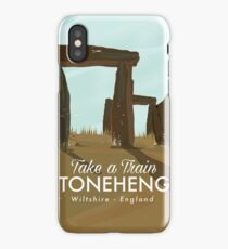 Stonehenge Wiltshire Train travel poster  iPhone Case/Skin