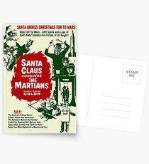 santa brings christmas fun to mars Postcards