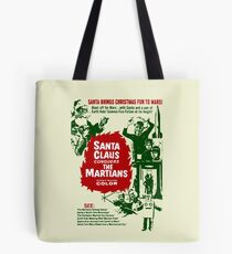 santa brings christmas fun to mars Tote Bag