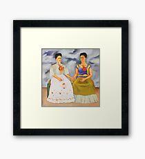 Die zwei Fridas Gerahmtes Wandbild