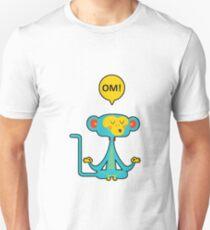 Meditating Yoga Monkey - Om - Zen - Yin Yan - Meditation  Unisex T-Shirt