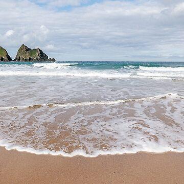 Holywell Bay Beach,North Cornwall  by lucylucy