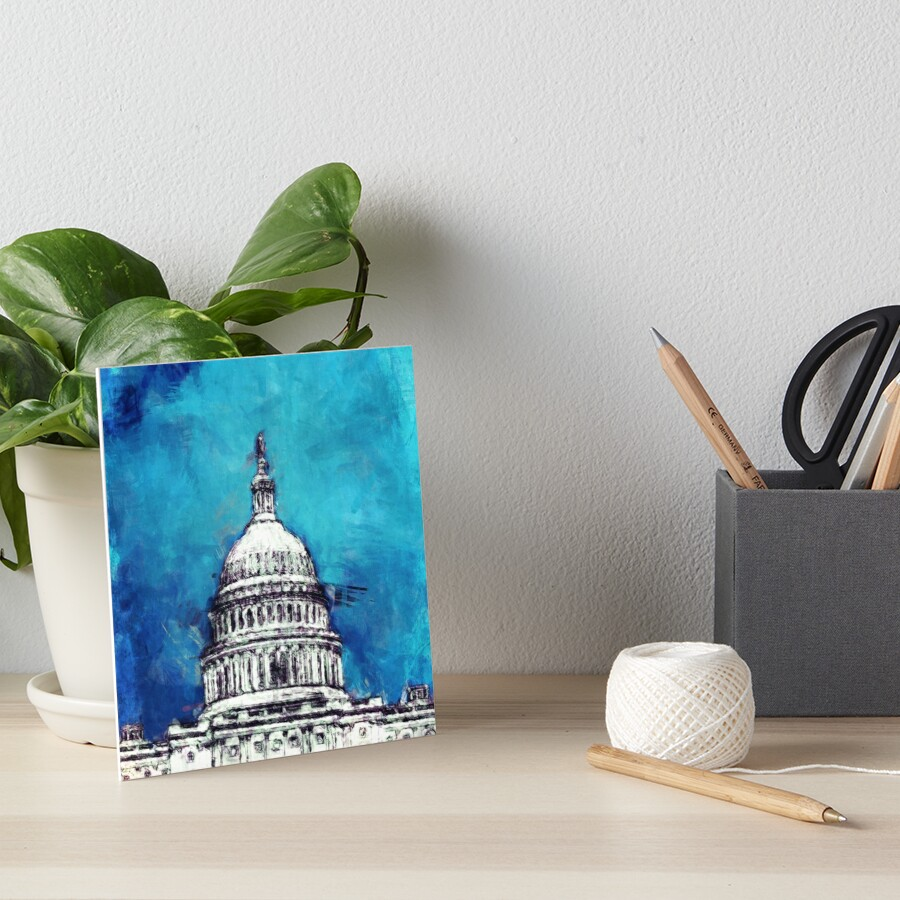 Stormy Weather Over The Capitol Art Board Print