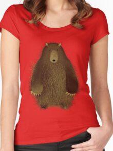 Barnsley the Big Bear. T-shirt femme moulant à col profond